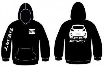 Sweatshirt com capuz para Seat Ibiza