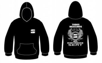 Sweatshirt com capuz Todos Nascemos (Seat)