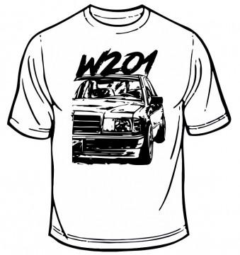 T-shirt com Mercedes 190 - W201