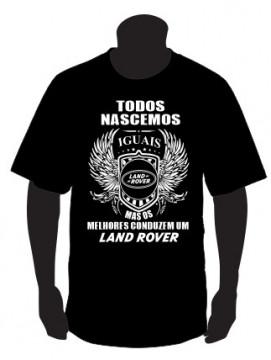 T-shirt com Todos Nascemos Iguais (Land Rover)