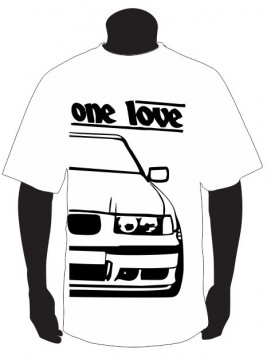 T-shirt para BMW E36 One Love