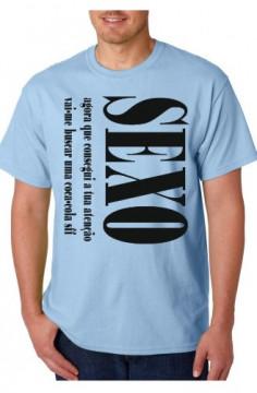 T-shirt  - SEXO, agora que chamei a tua atenção vai me buscar uma Coca-Cola sff