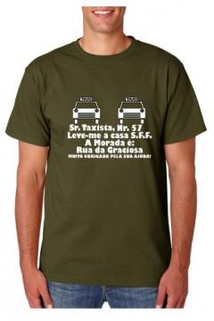 T-shirt  - Sr. Taxista Nr 57 Leve-me para Casa
