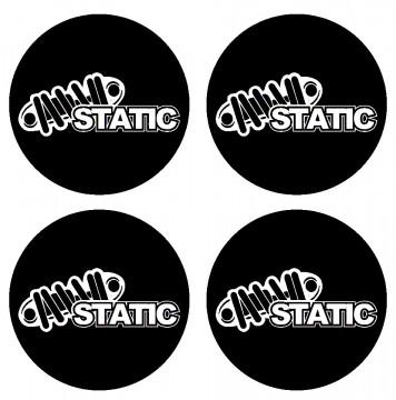 4 Autocolantes Para Centros de Jantes com Static