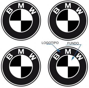 4 Autocolantes Para Centros de Jantes para BMW