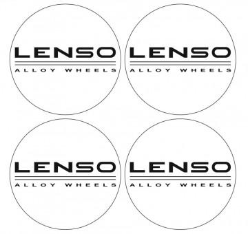 4 Autocolantes Para Centros de Jantes para Lenso