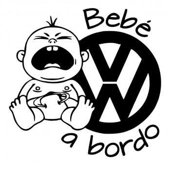Autocolante - Bebé a bordo para Volkswagen