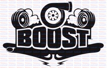 Autocolante - Boost turbo