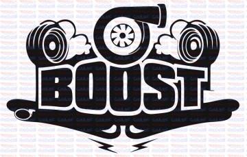 Autocolante - Boost turbo
