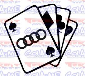 Autocolante- Cartas Audi