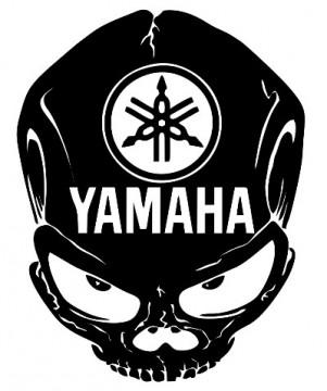 Autocolante com caveira yamaha