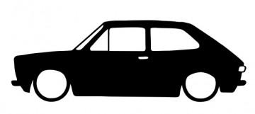Autocolante com  Fiat 127