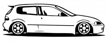 Autocolante com Honda EG6