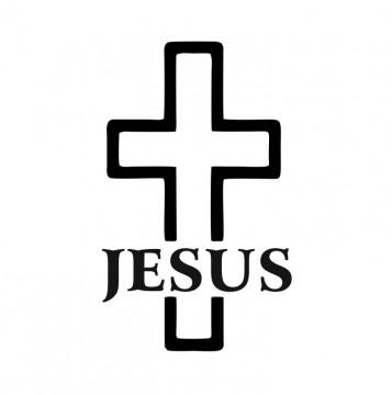 Autocolante com Jesus Cruz