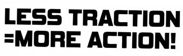 Autocolante com Less tration = more action