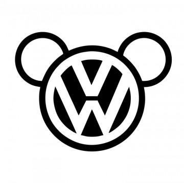 Autocolante com Mickey VW