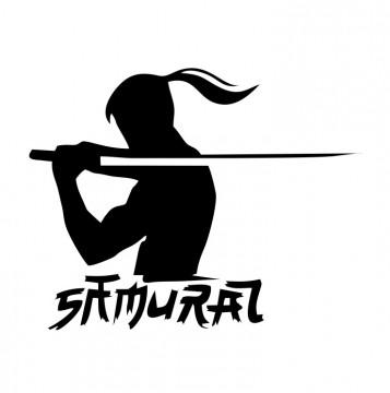 Autocolante com Samurai.
