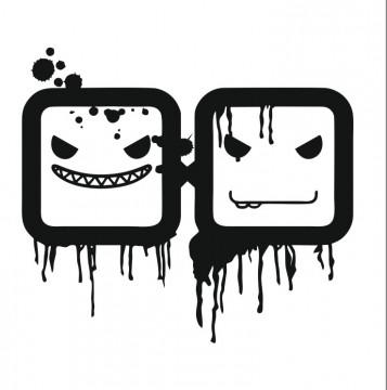 Autocolante com Smiles quadrados.