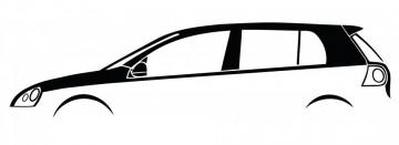 Autocolante com Volkswagen Golf Mk5 5 portas
