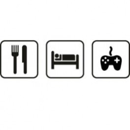 Autocolante - Comer Dormir Jogar