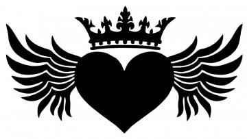 Autocolante - Coração com Coroa