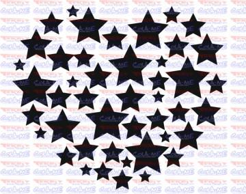 Autocolante - Coração em Estrelas