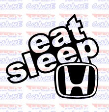 Autocolante - Eat Sleep Honda