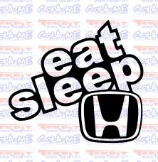 Autocolante - Eat Sleep Honda