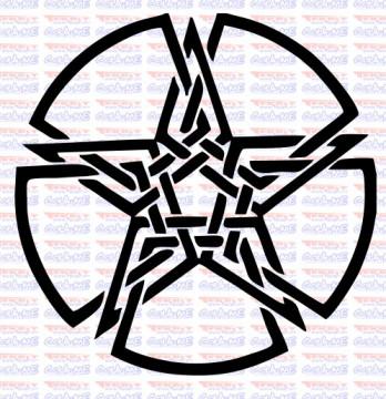 Autocolante - Estrela Tribal
