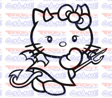 Autocolante - Hello kitty Diabo