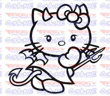 Autocolante - Hello kitty Diabo