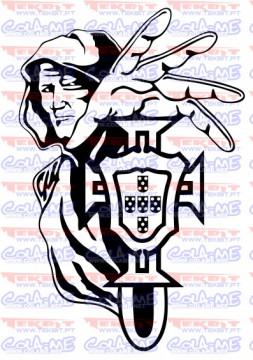 Autocolante - Homem - Símbolo Federação Portuguesa Futebol (Portugal)