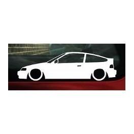 Autocolante - Honda Civic CRX