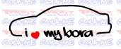 Autocolante - I Love my Bora