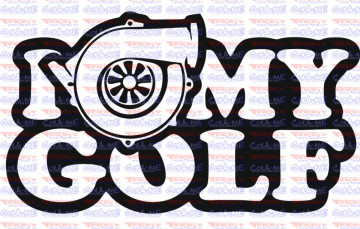 Autocolante - I Love My Golf