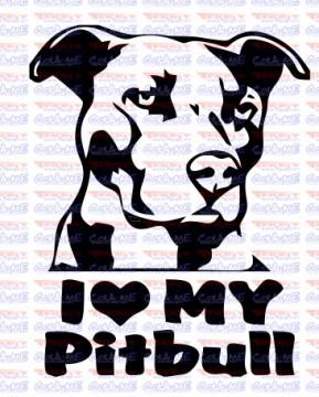Autocolante - I love My Pitbull