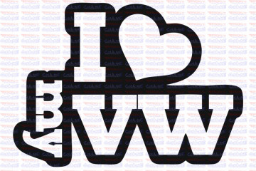 Autocolante - I Love My Vw