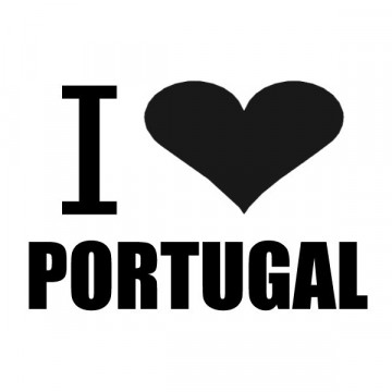 Autocolante - I love Portugal