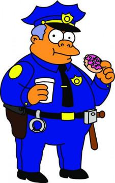 Autocolante Impresso - Chefe Clancy - Simpsons