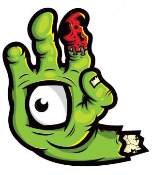 Autocolante Impresso - Mão Monstro