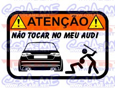 Autocolante Impresso - Não tocar no meu Audi A3 (2013)