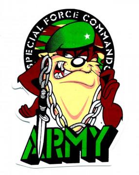Autocolante Impresso - special force commando army - taz
