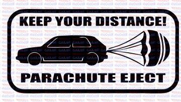 Autocolante - Keep Your Distance! Parachute Eject.