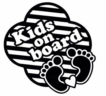 Autocolante - Kids on Board