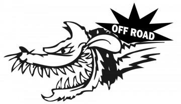 Autocolante - Lobo Off Road