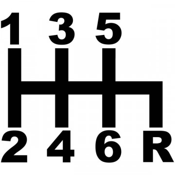 Autocolante - Logo de alavanca velocidades