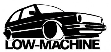 Autocolante - Low Machine com VW golf II