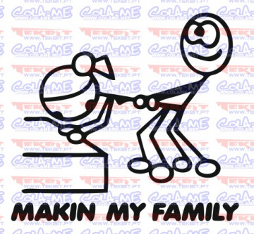 Autocolante - Making my family