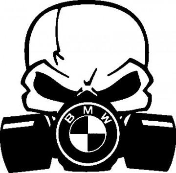 Autocolante - Máscara  de Gás BMW