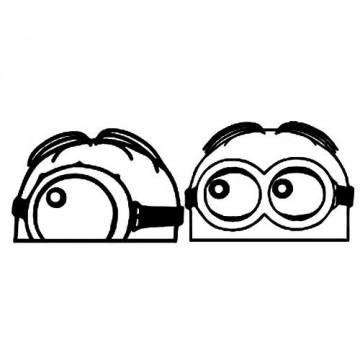 Autocolante - Minions a espreitar